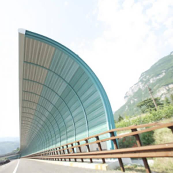 Landscape colorful acoustic barrier