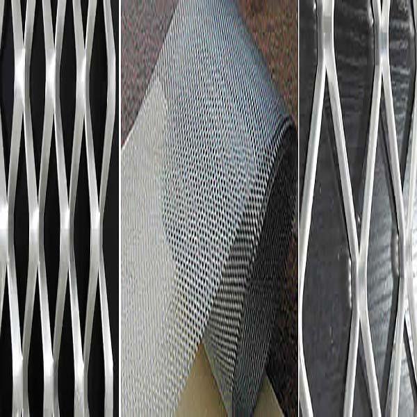 Flattened titanium mesh