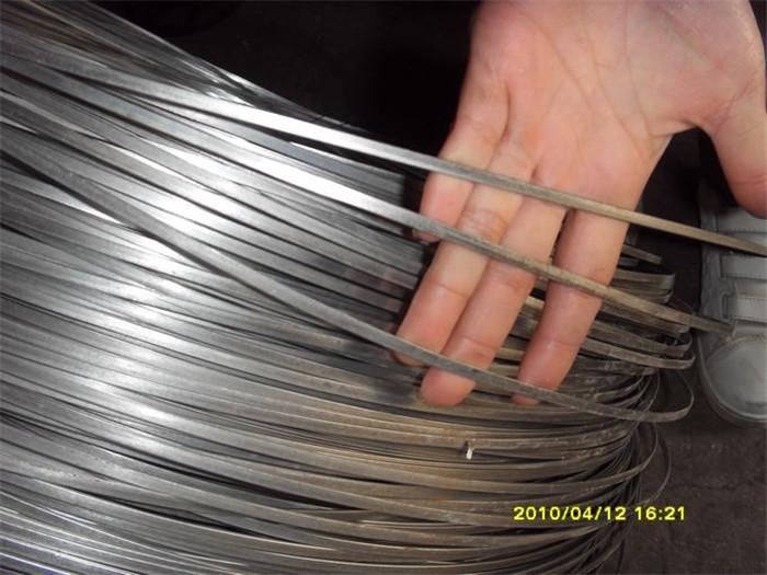 Original Factory Crimped Woven Wire Mesh - 5.1mmx1.5mm Galvanized Flat Steel Wire – Fuhai