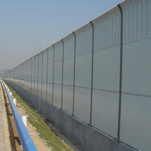 Aluminum plate noise barrier