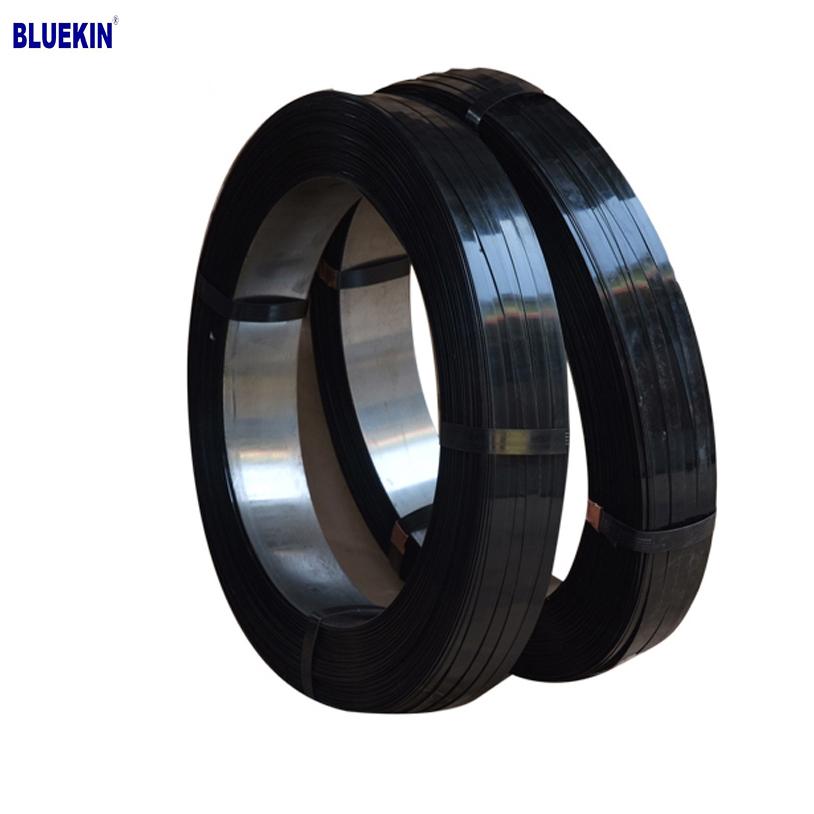 High Tensile black painted steel strap