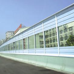 Railway acoustic barrier