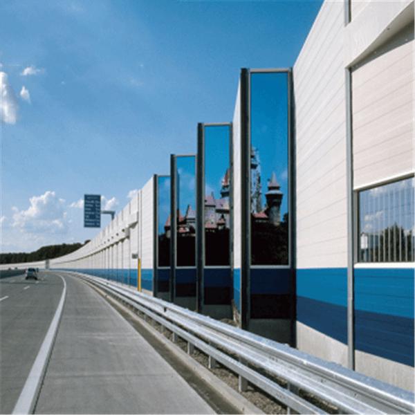 Highway acoustic barrier